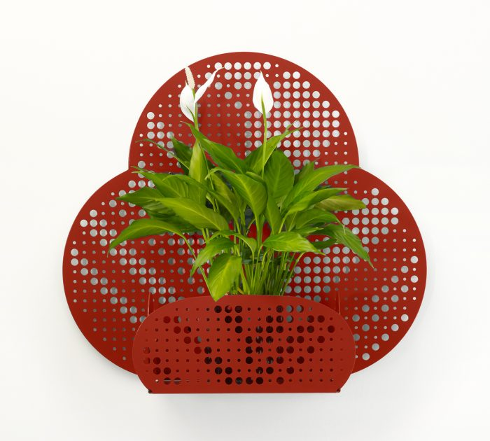 The Bloom Planters are a series of decorative metal wall planters distinguishable by its laser-cut patterns and breezy perforations.