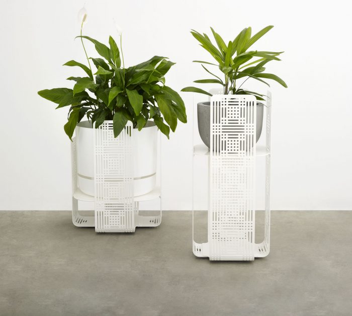 The Terrace Contemporary Outdoor Plant Stand with breezy perforations is a stylish addition to your courtyard, balcony, deck and indoor space