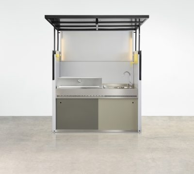It's an open and shut case - the Tilt Outdoor BBQ Kitchen Unit designed by Urban Commons is the gold standard of outdoor entertaining.