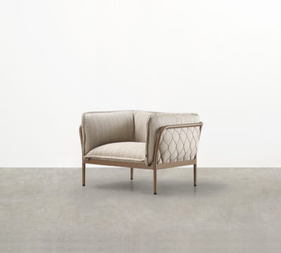 You don't often hear outdoor furniture described as sexy, but the Trace Outdoor Armchair is an unarguably luxury outdoor upholstered armchair.