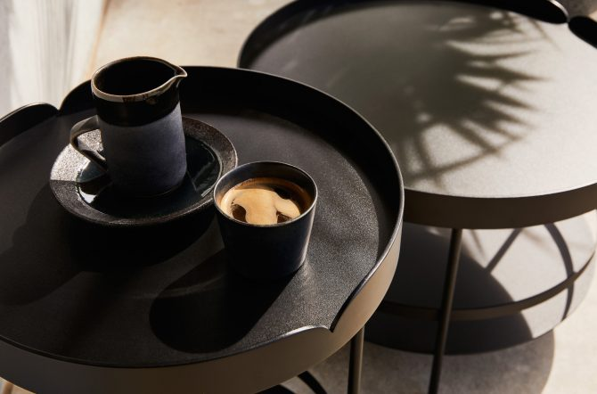 Outdoor Coffee Side Table Nesting Combination