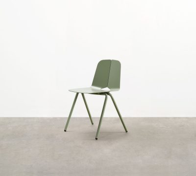 "The Seam Stacking Chair - a contemporary outdoor stacking chair - conceived like the tailoring of fabric giving its eponymous ""seam"" detail."