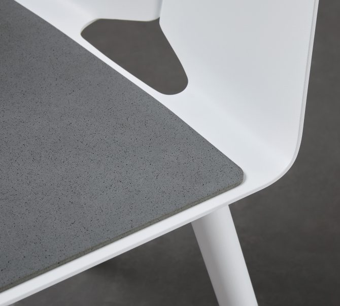 The Seam Barstool Seat Pad is a rubber seat pad that will add a hint of warmth and comfort to your Seam Barstool.
