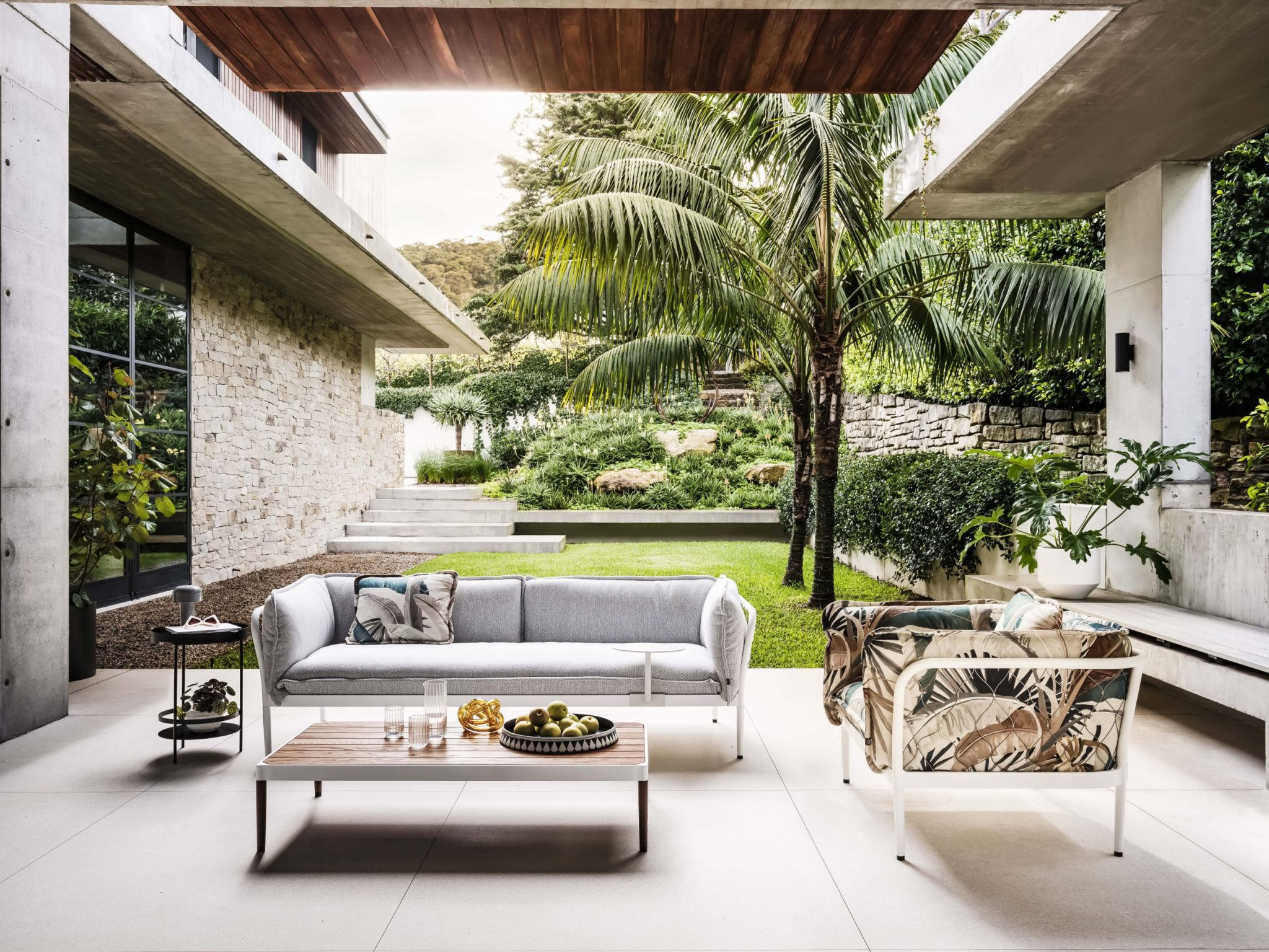 Trace Luxury Outdoor Upholstered Sofa