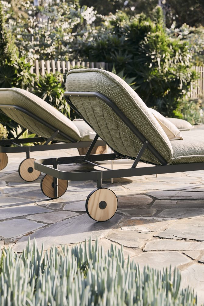 The Trace Sunlounge is the ultimate luxury outdoor upholstered sunlounge with voluptuous curves that beckon you to come, sit, stay awhile...