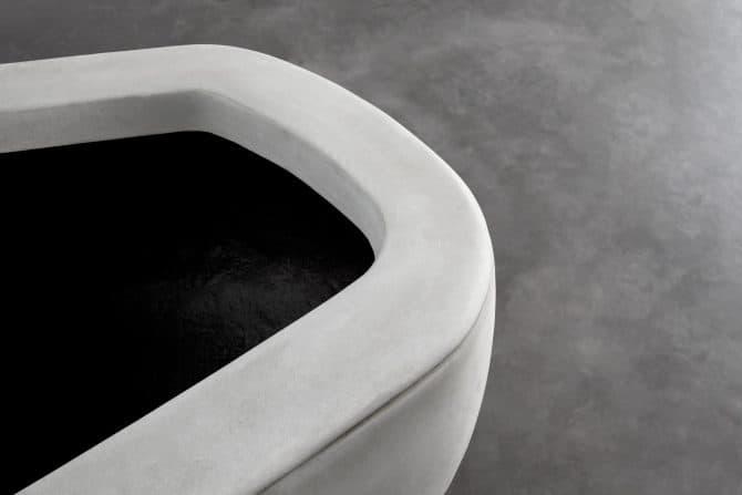 Scape Island Lightweight Concrete Planter Seat