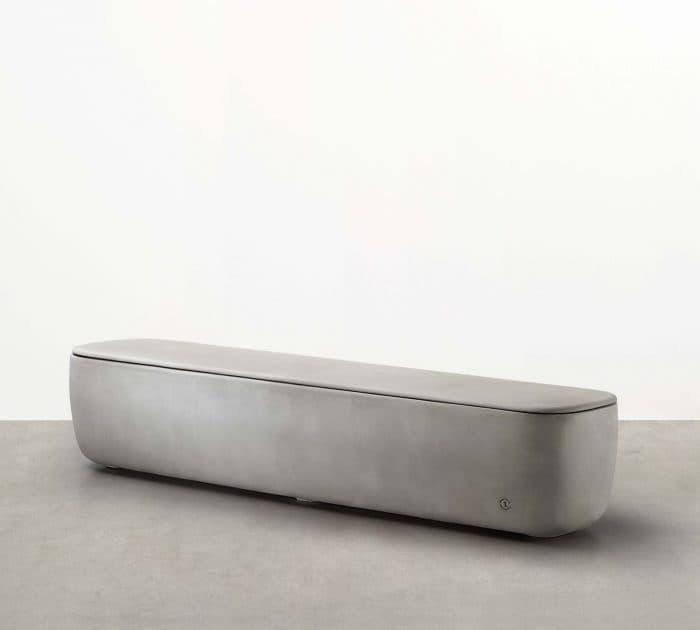 lightweight concrete long module bench seat
