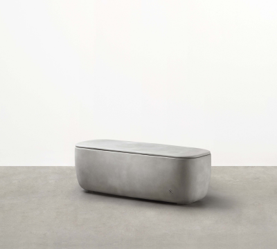 Designed by Adam Goodrum for Tait the Scape Module - a modular concrete bench seat - forms part of a fluid, triadic modular system.
